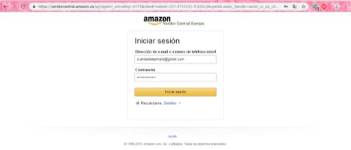amazon vendor crear cuenta paso a paso login vender