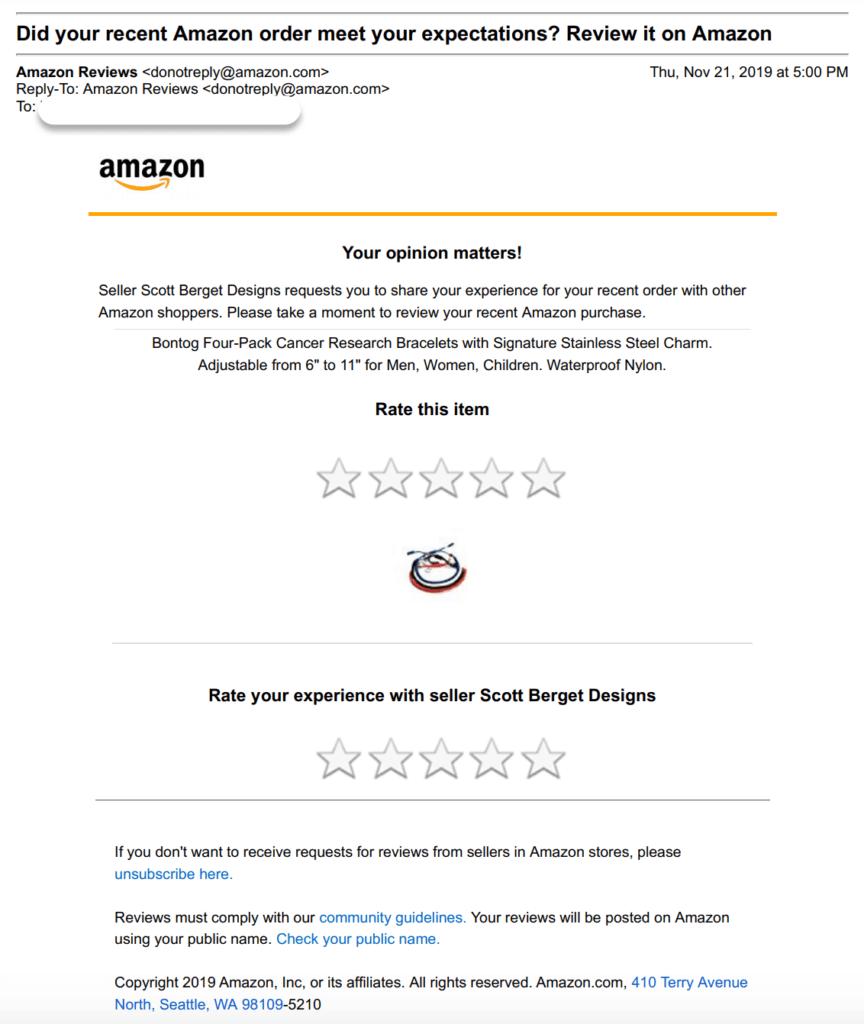 email solicitar una revisión