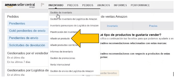 subir productos amazon, vender en amazon, como vender en amazon, guia vender en amazon
