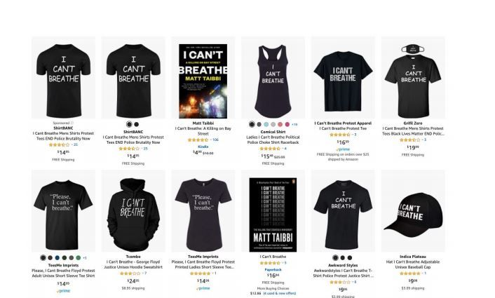 Camisetas Amazon I cant breathe