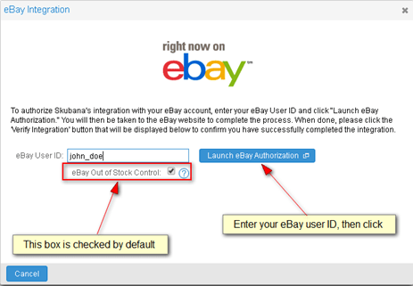 Integrar Skubana con eBay