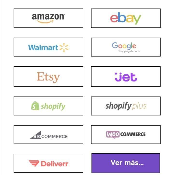 Marketplaces con los que se integra sellbrite
